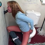 gloryhole toilet shots